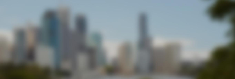 Blurred image of Brisbane city skyline