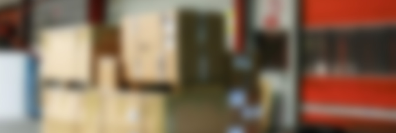 Blurred image of packing boxes