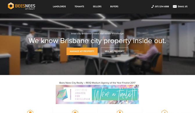 Beesnees homepage design concept