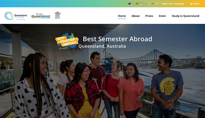 Best Semester Abroad homepage design concept