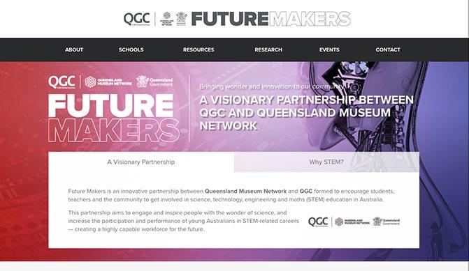 Future Makers homepage design concept