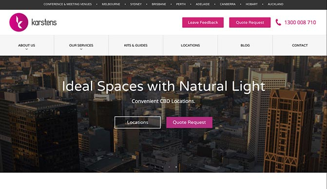 Karstens homepage design concept