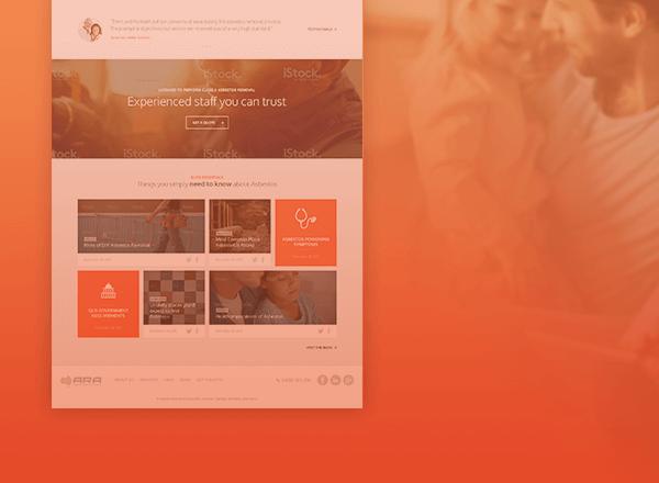 ARA homepage design concept