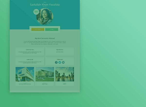 BSA homepage design concept