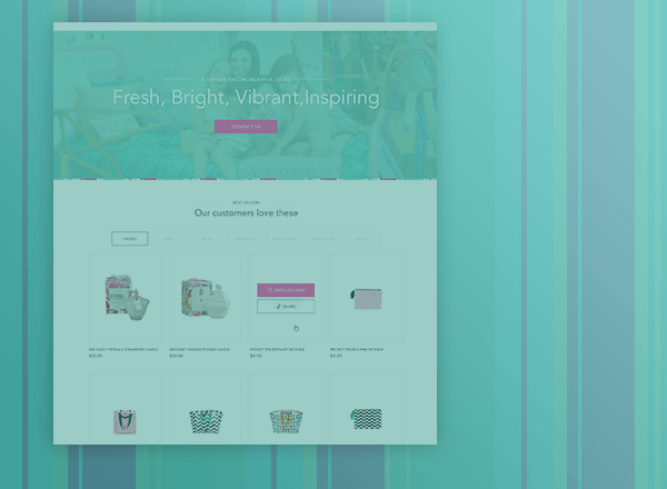 Mamas homepage design concept