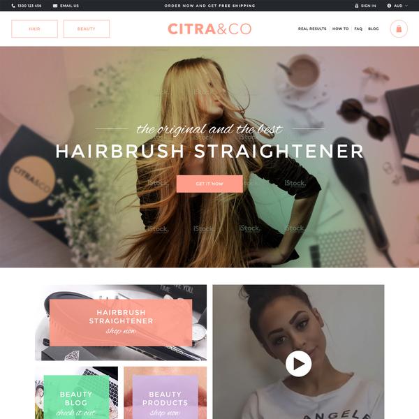 Citra & Co homepage design concept