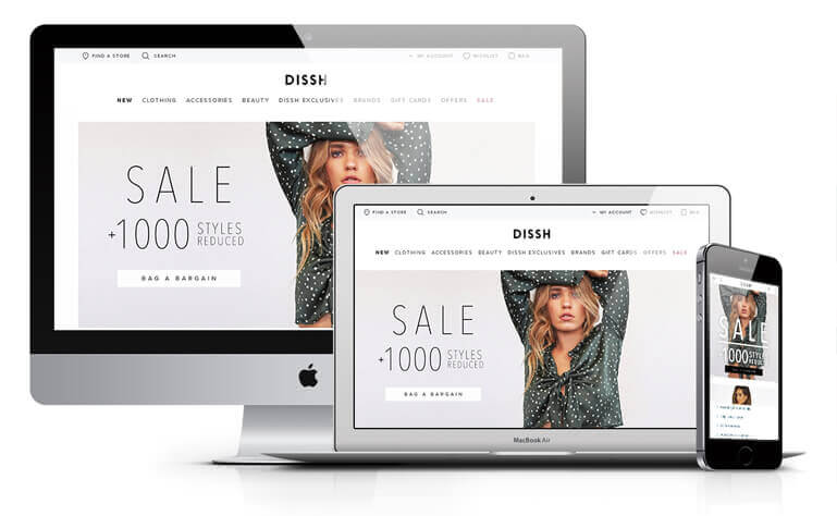 Dissh website design concept