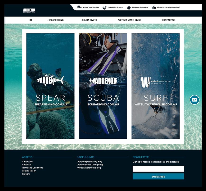 Adreno homepage design concept