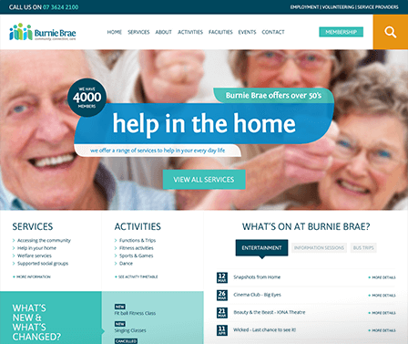 Burnie brae homepage design concept