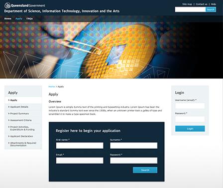 DSITI homepage design concept