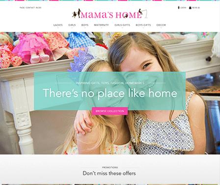 Mamas Home homepage design concept