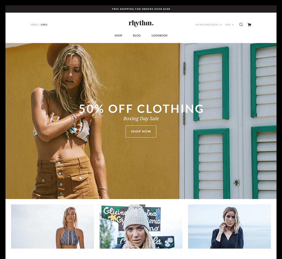 Rhythm homepage design concept