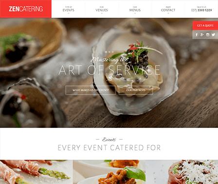 Zen catering homepage design concept