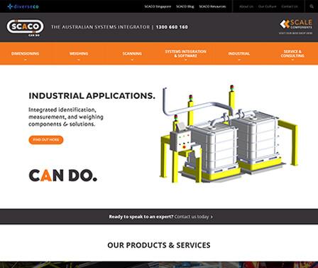 SCACO homepage design concept