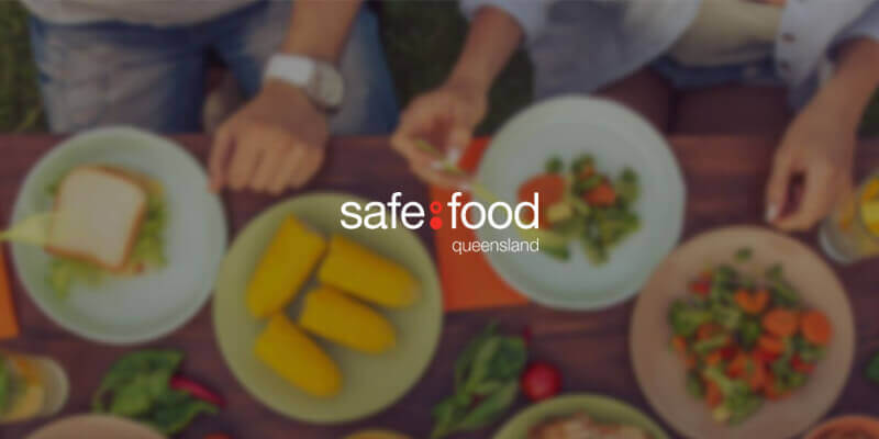 Safe food Queensland logo