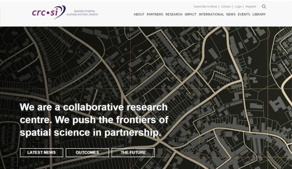 CRCSI homepage design concept