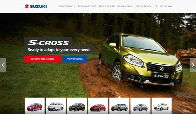 Suzuki homepage design concept