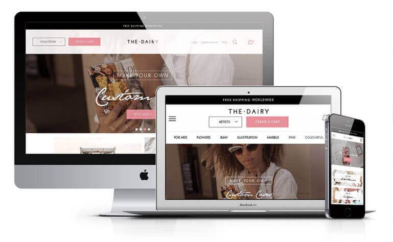 The Dairy website design concept