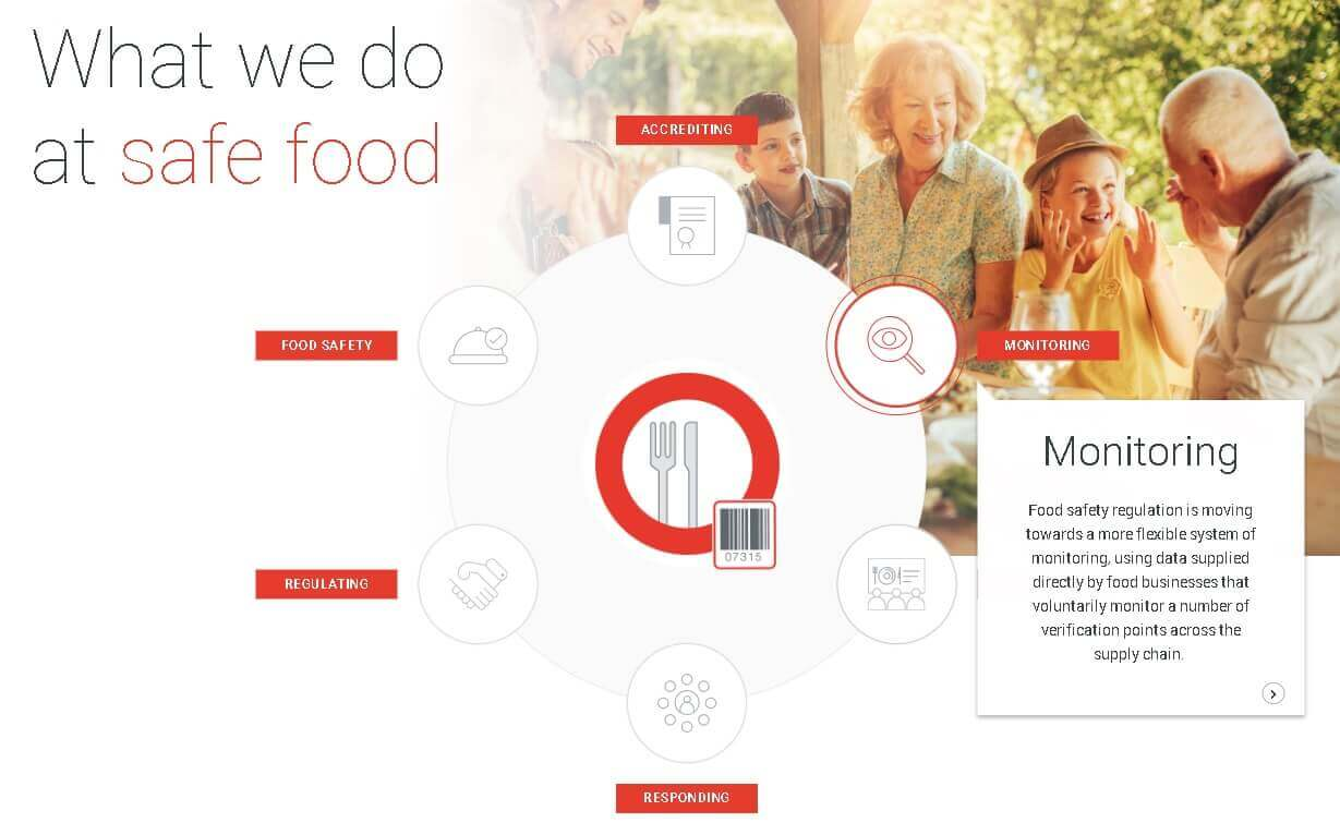 Visual overview of food safety wheel