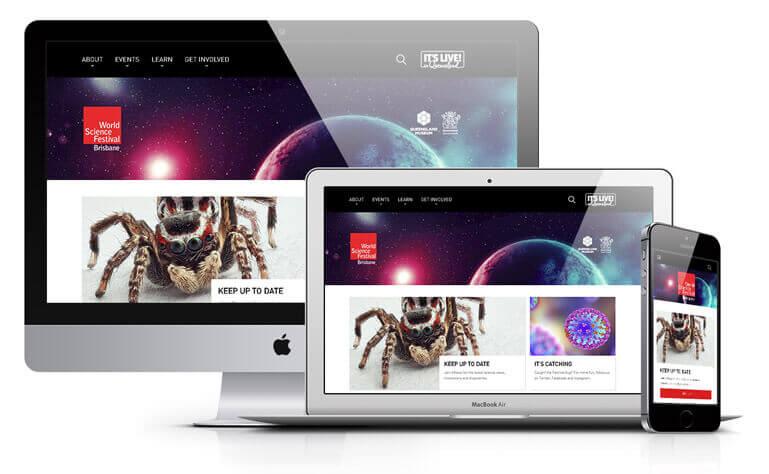 World Science Festival website design concept