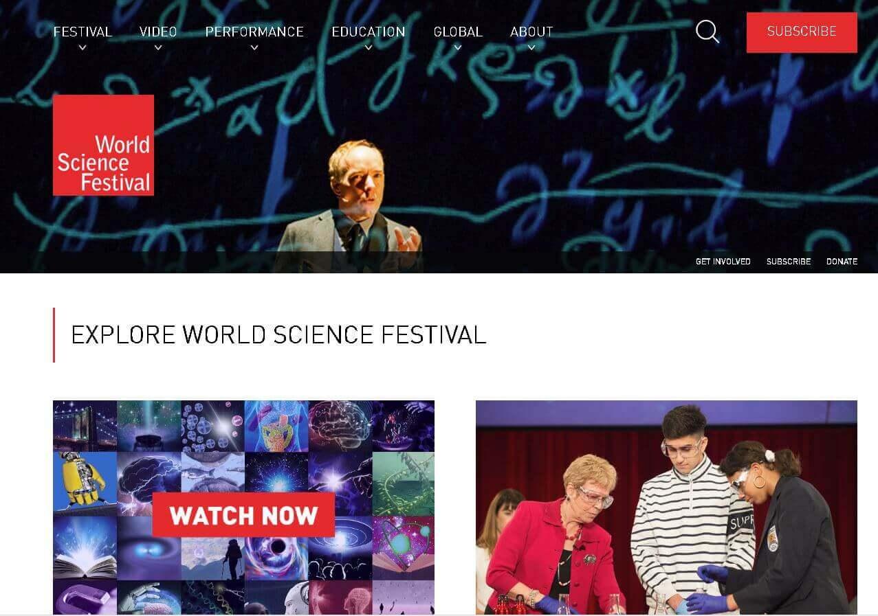 World Science Festival Brisbane website example