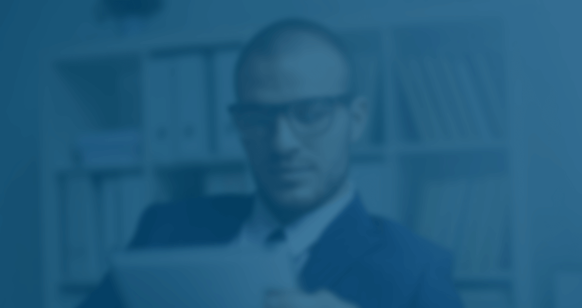 Blurred person in business suit