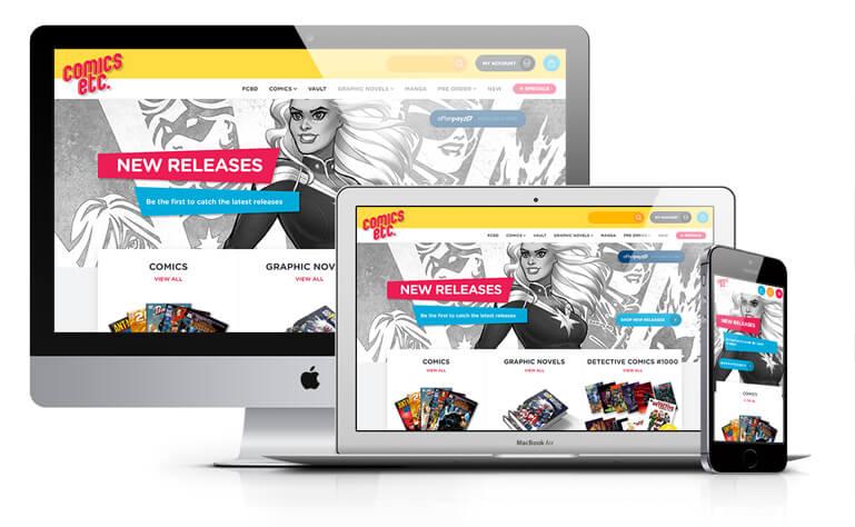 Comics etc. website design concept