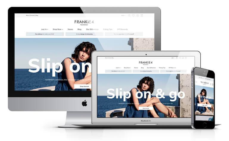 Frankie4 website design concept